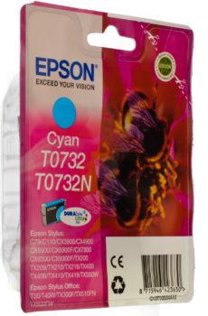 КАРТРИДЖ EPSON T07324А/T10524A CYAN (C13T10524A10)